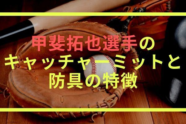 甲斐拓也選手のキャッチャーミットと防具