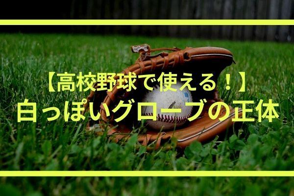 高校野球で使える白いグローブ