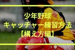 【少年野球のキャッチャー練習方法|構え方編】鏡の前で練習しよう!