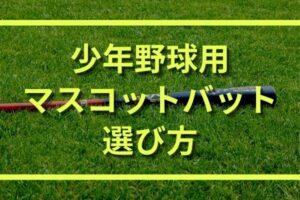 少年野球用(ジュニア)マスコットバットの種類と選び方|おすすめもご紹介!