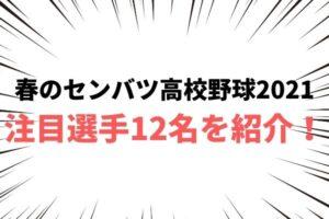 【春の選抜(センバツ)高校野球2021】注目選手12名を厳選して紹介!