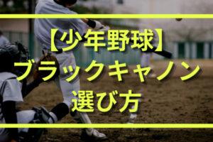 【少年野球】ブラックキャノン(ゼット)の選び方|どれが1番おすすめ?